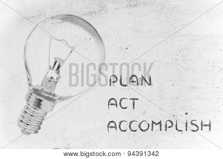 Plan, Act And Accomplish Your Success