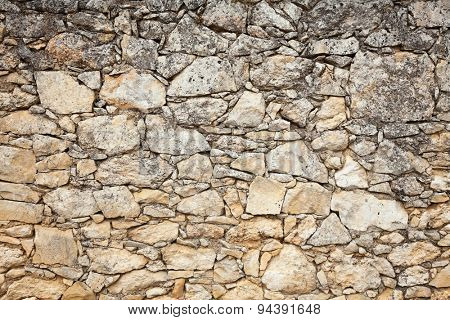 Old weathered stone wall background