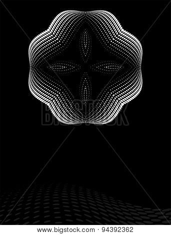 Background Composition, Web Template (Halftone) Vector Art