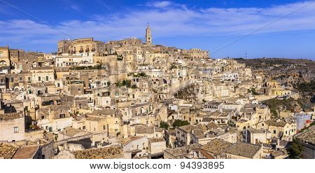 ancient cave city Matera in Basilicata, Italy