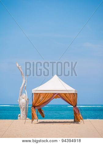 canopy on Kuta beach in Bali Indonesia