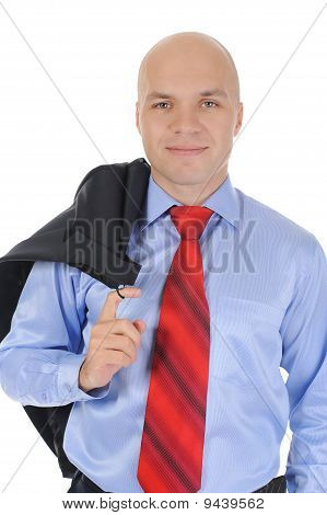 Businessman With A Jacket In His Hands