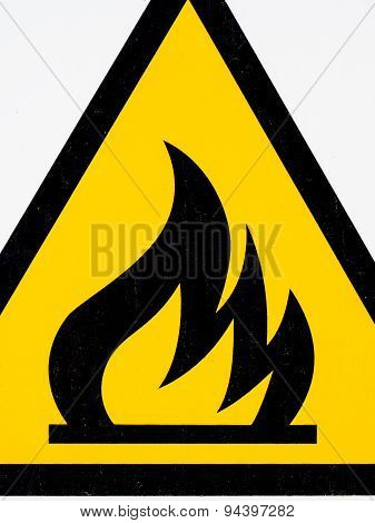 Flammable Signboard Yellow