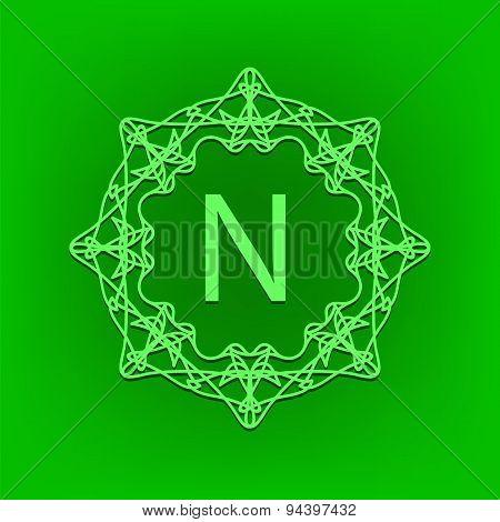 Simple  Monogram N