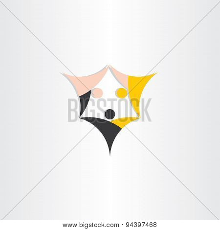 Equality Of People Races Concept Symbol