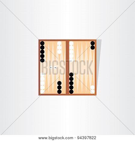 Backgammon Tournament Icon Design