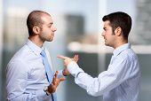 pic of cheater  - Businessman scolding a colleague - JPG