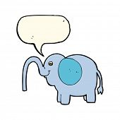 image of squirting  - cartoon elephant squirting water with speech bubble - JPG