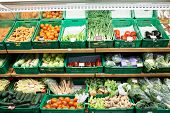 pic of farmers market vegetables  - Fruits and vegetables at a farmers market - JPG