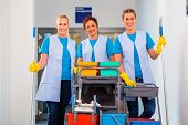 pic of work crew  - Cleaning service at work - JPG