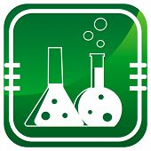 stock photo of reagent  - Flask with chemical reagent  - JPG
