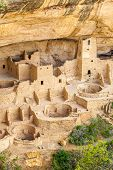 Постер, плакат: Cliff Dwellings In Mesa Verde National Parks Co Usa