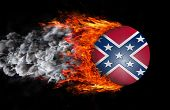 foto of flag confederate  - Concept of speed  - JPG