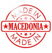 image of macedonia  - Made in Macedonia red seal image with hi - JPG