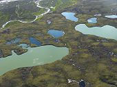 Aerial View On Tundra Landscape poster