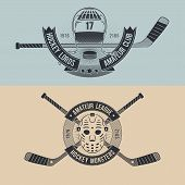 Постер, плакат: tattoo hockey