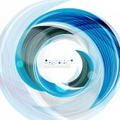 pic of slogan  - Swirl line abstract background - JPG