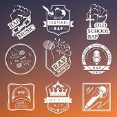 Постер, плакат: Set Badges Rap Music