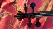 image of violin  - Panorama of an antique violin - JPG