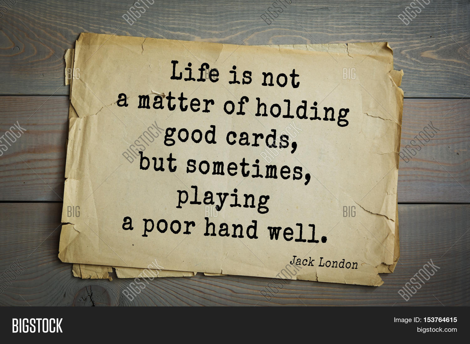 Poor Life Quotes Top 10 Quotesjack London 1876 Image & Photo  Bigstock