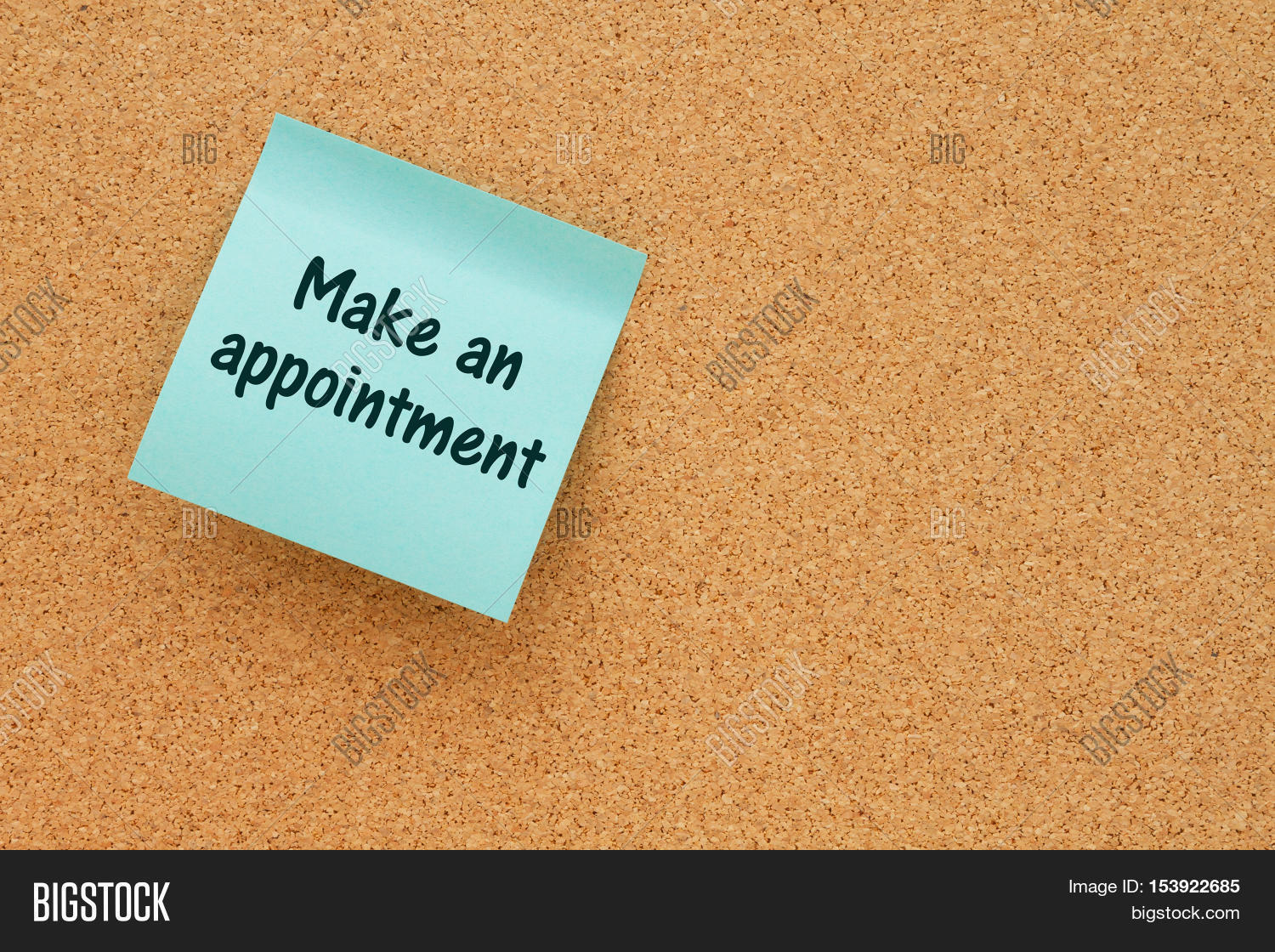 A reminder to make an appointment Bulletin board with a ... - photo#15