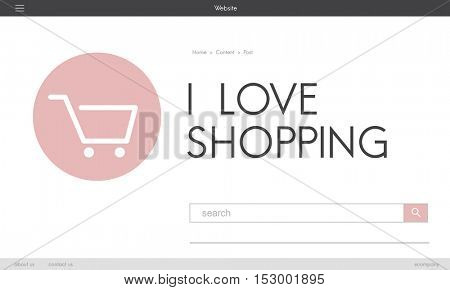 E-commerce Shop Online Homepage Sale Concept