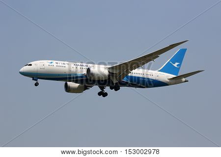 Xiamen Air Boeing 787-8 Dreamliner Airplane Beijing Airport