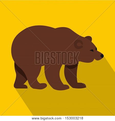 Bear icon. Flat illustration of bear vector icon for web