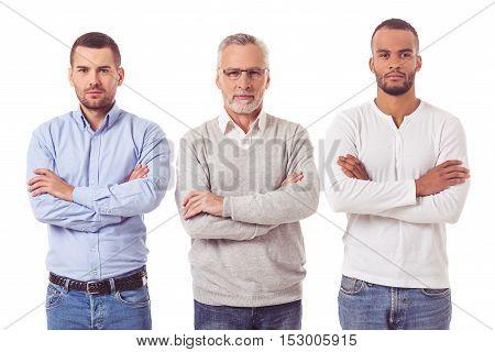 Three Handsome Businessmen