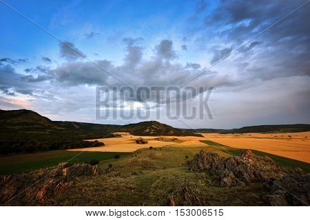 Dobrogea view from Macin Mountains, Romania