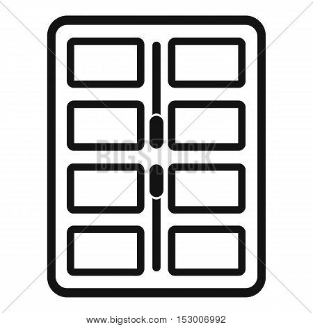 Makeup palette with applicators icon. Simple illustration of makeup palette with applicators vector icon for web