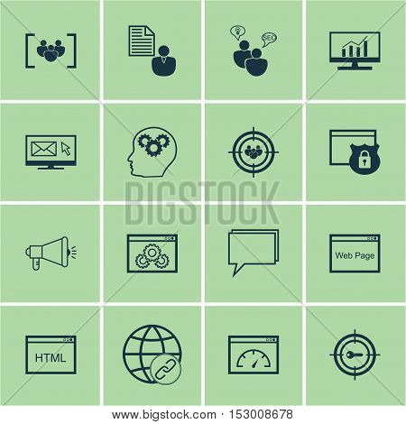Set Of Marketing Icons On Coding, Brain Process And Website Topics. Editable Vector Illustration. In