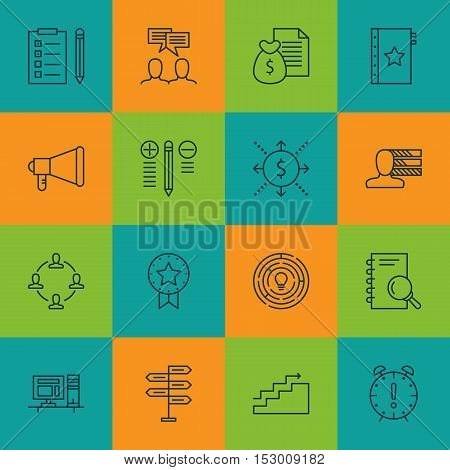 Set Of Project Management Icons On Analysis, Growth And Report Topics. Editable Vector Illustration.