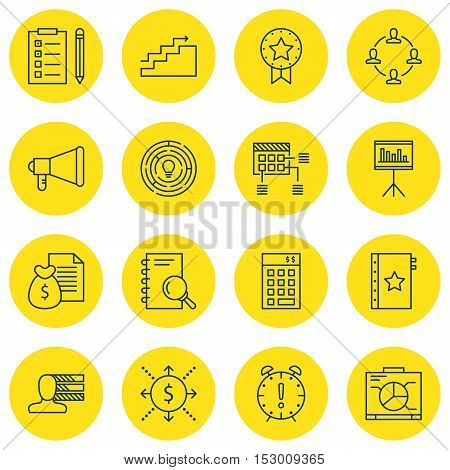 Set Of Project Management Icons On Schedule, Money And Investment Topics. Editable Vector Illustrati