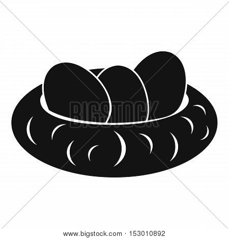 Eggs in the nest icon. Simple illustration of eggs in the nest vector icon for web