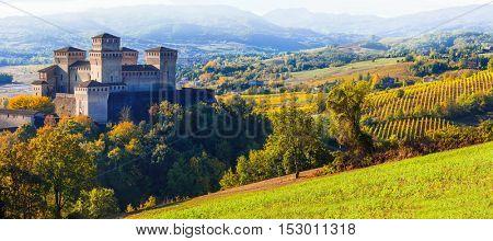 Beautiful castles of Italy - medieval castle of Torrechiara, Parma