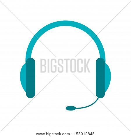 Headphone icon. Device gadget and technology theme. Isolated design. Vector illustration