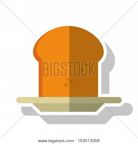 Bread icon. Bakery food product and menu theme. Isolated design. Vector illustration