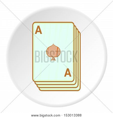 Game cards icon. Cartoon illustration of game cards vector icon for web