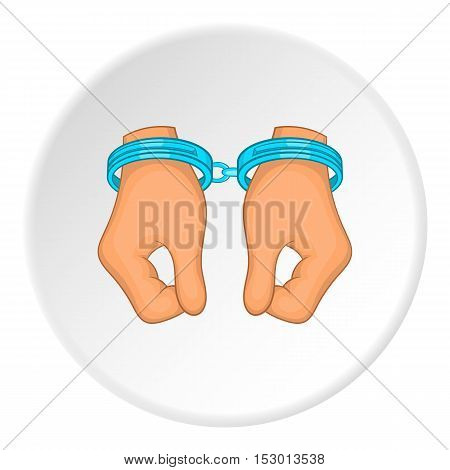Handcuffs icon. Flat illustration of handcuffs vector icon for web