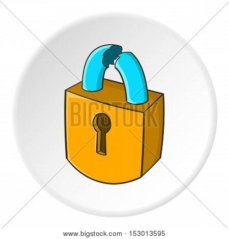 Lock icon. Isometric illustration of lock vector icon for web