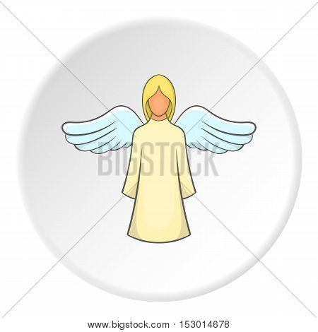 Angel icon. Flat illustration of angel vector icon for web