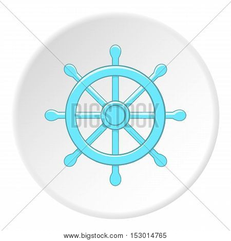 Rudder icon. Flat illustration of rudder vector icon for web
