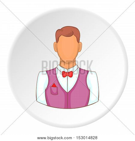 Croupier icon. Flat illustration of croupier vector icon for web