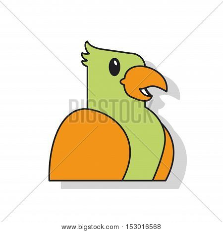 Bird icon. Pet animal domestic and care theme. Isolated design. Vector illustration