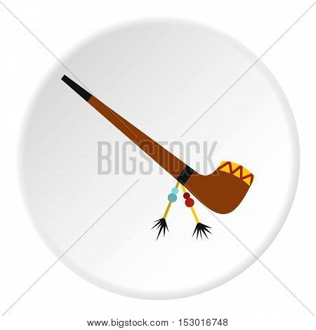 Smoking pipe icon. Flat illustration of smoking pipe vector icon for web