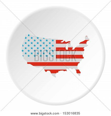 USA map icon. Flat illustration of USA map vector icon for web