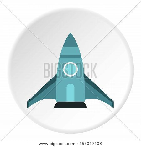 Rocket takes off icon. Flat illustration of rocket takes off vector icon for web