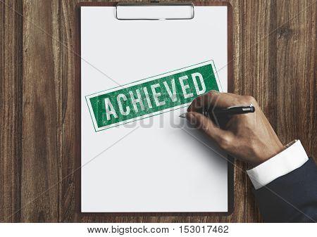 Achieve Goal Motivation Strategy Successful Concept
