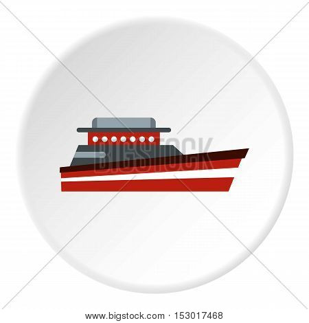 Great powerboat icon. Flat illustration of great powerboat vector icon for web